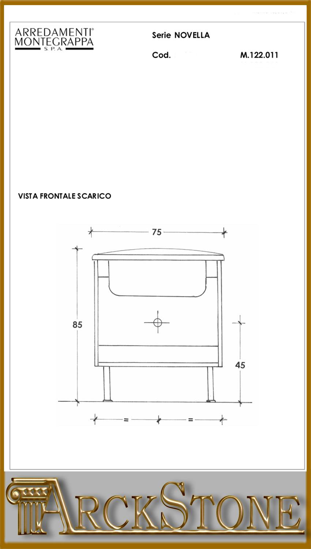 Arckstone mobile bagno lavanderia lavabo lavatoio for Arredamenti montegrappa