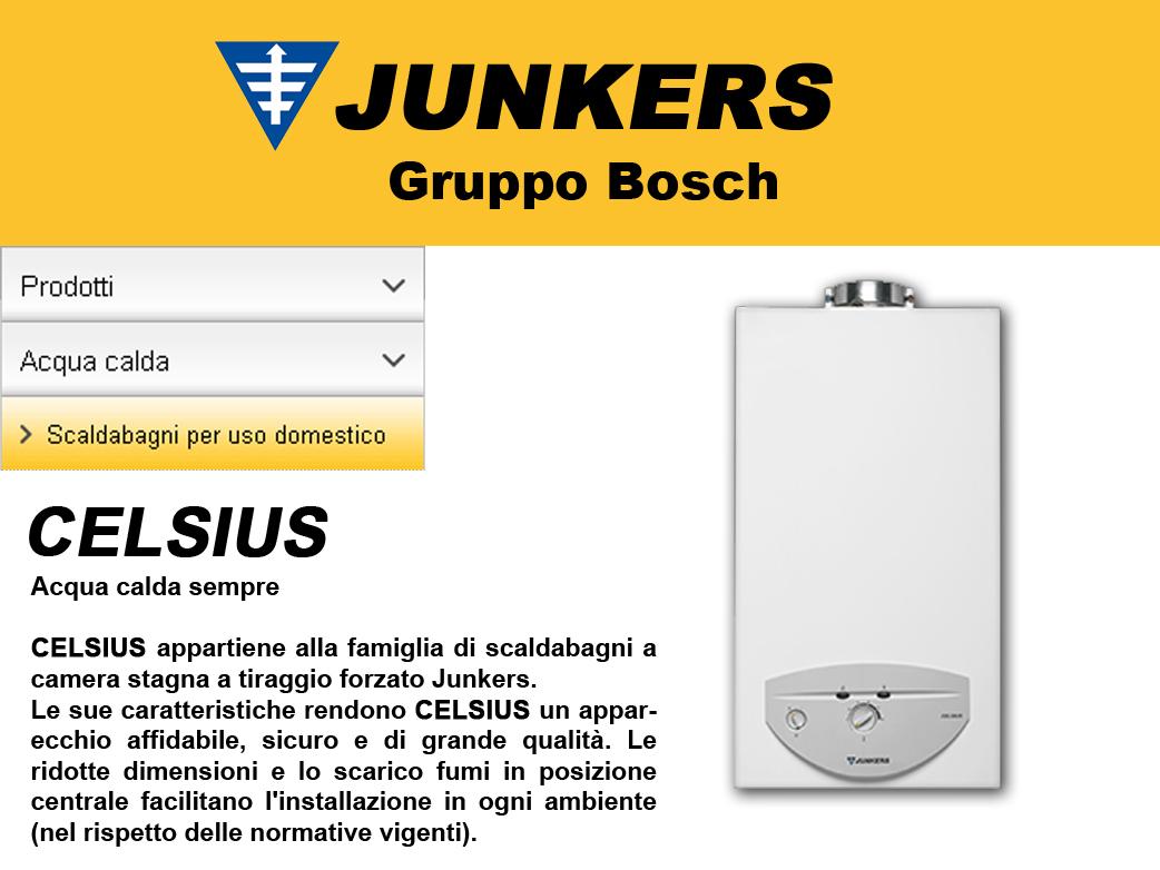 Arckstone junkers bosch scaldabagno a gas celsius a camera - Scaldabagni a gas a camera stagna ...