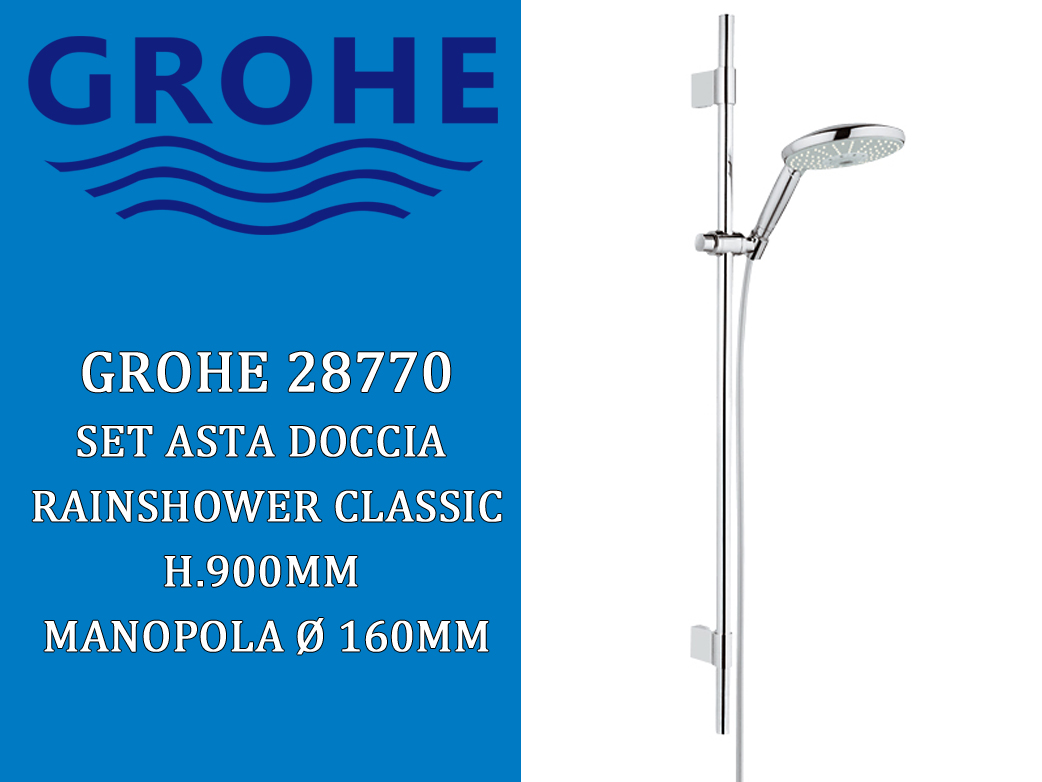 offerta grohe 28770 set asta doccia rainshower classic manopola 160mm ebay. Black Bedroom Furniture Sets. Home Design Ideas