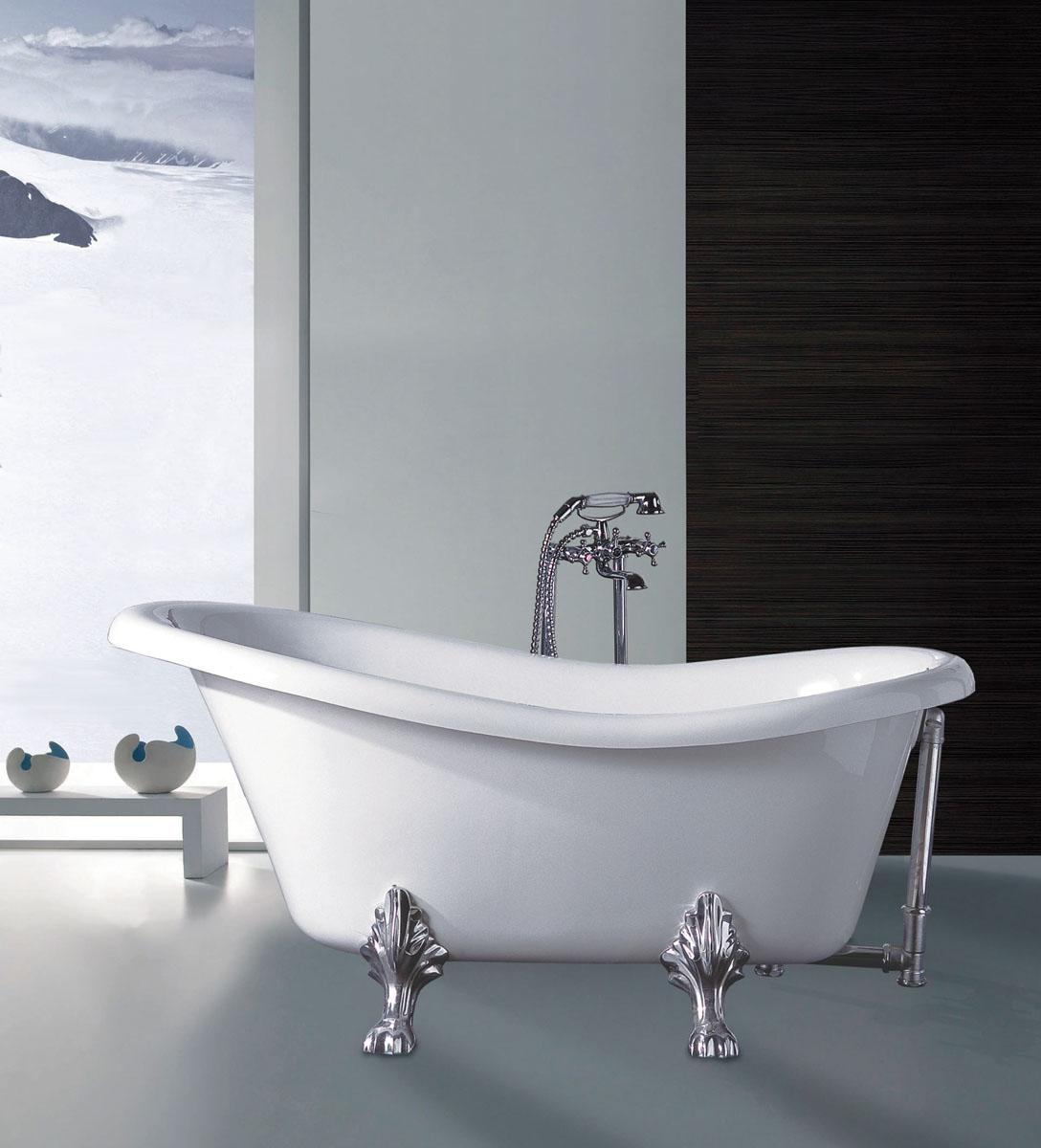 arckstone vasca arredo acrilico epoca stile antico classico bianco
