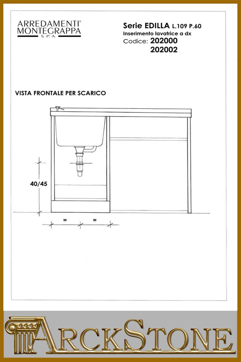 Misure lavatrice interesting with misure lavatrice for Scheda tecnica anta ribalta giesse