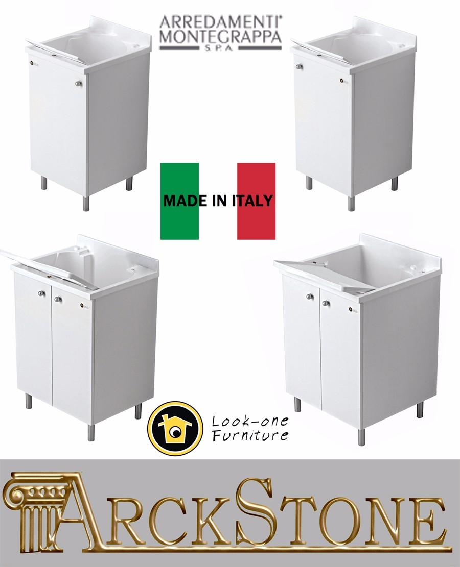 Mobiletto mobile lavatoio lavanderia piedini arredamenti for Montegrappa arredamenti