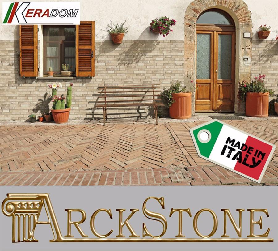 ARCKSTONE Campione in Gres Porcellanato Effetto Pietra Casa Keradom Faeto Almond