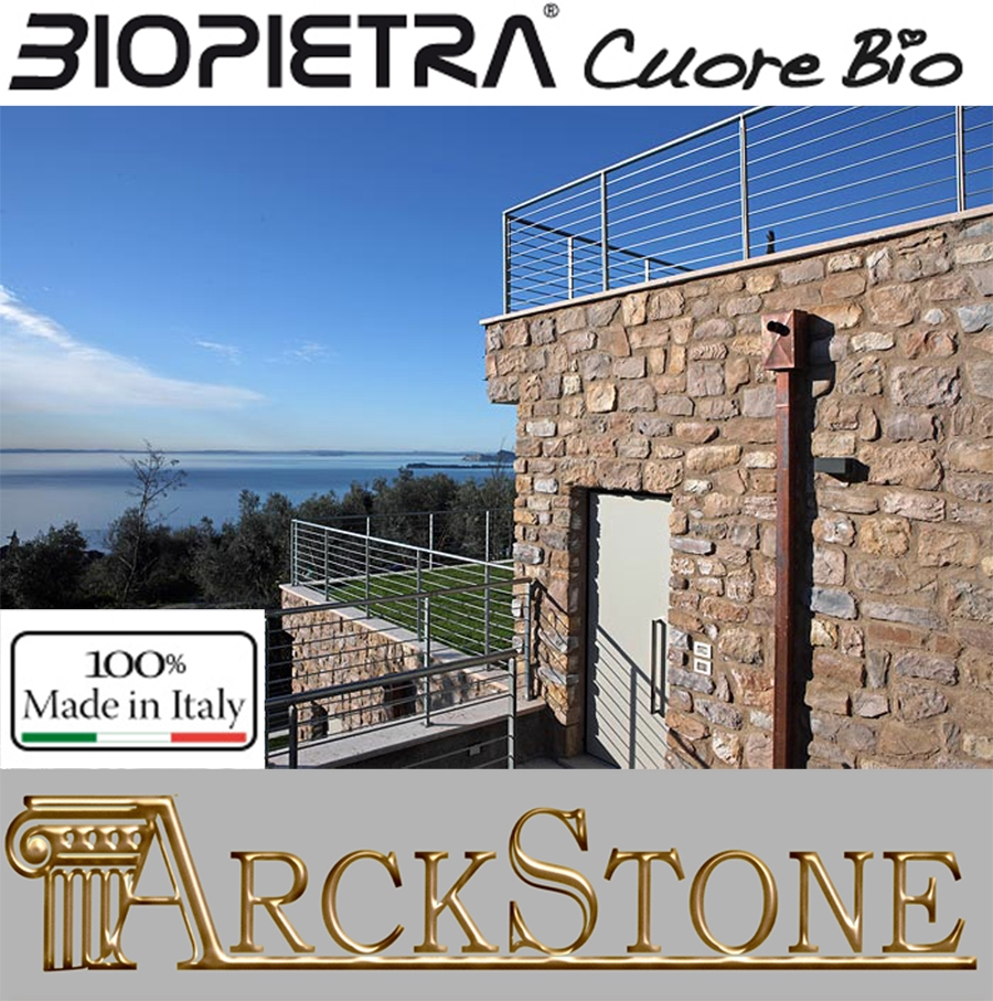 ARCKSTONE Rivestimento Pietra Ricomposta Kerma Biopietra Scaglia Carsica Arena