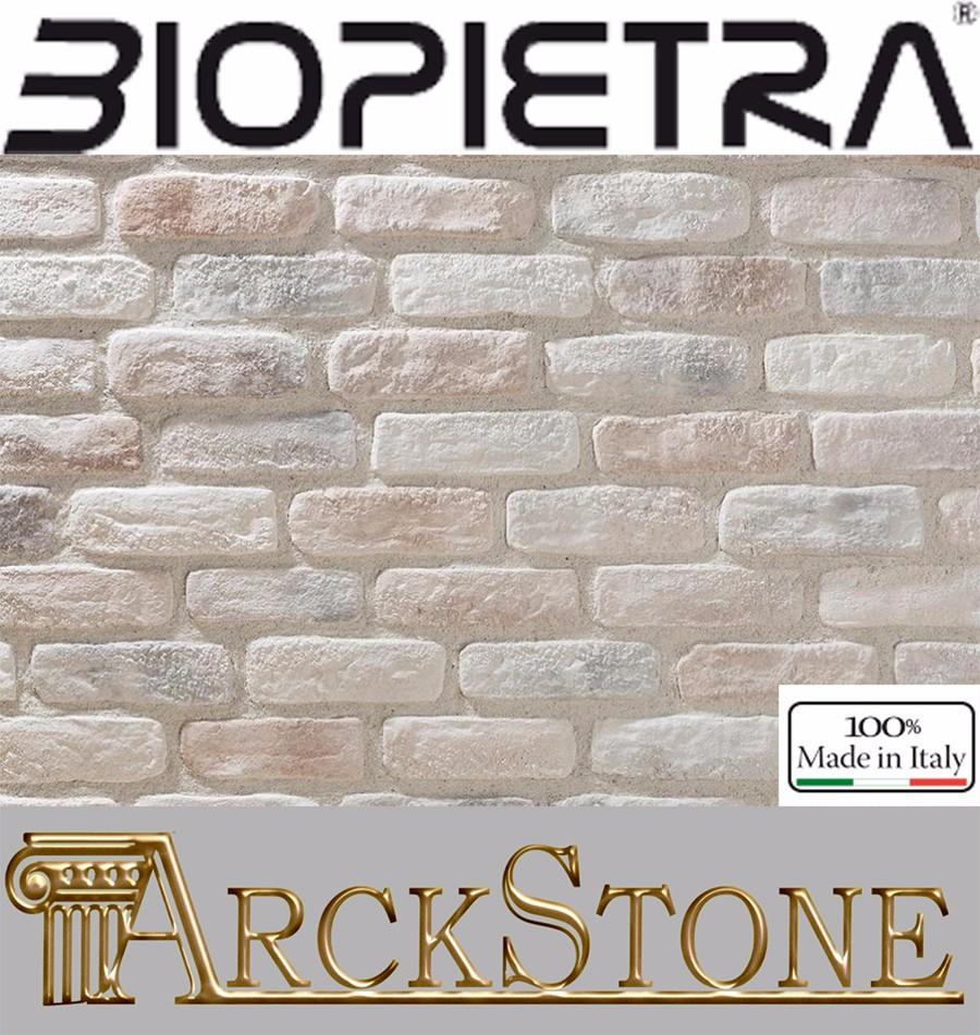Mattoni Bianchi Per Esterni dettagli su fondo pietra ricomposta esterno kerma biopietra listello  mattone antico agata