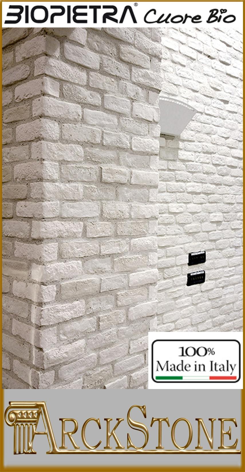 Mattoni Bianchi Per Esterni dettagli su arckstone angoli pietra ricompost kerma biopietra listello  mattone antico bianco