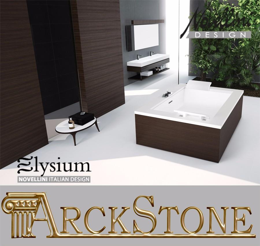 Arckstone vasca bagno idromassaggio disinfezione novellini elysium sense dual ebay - Bordo vasca da bagno ...