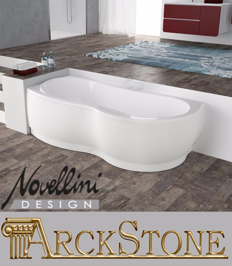 Vasca Da Bagno Misure Standard dettagli su arckstone vasca bagno angolare sinistra novellini venus  standard telaio 170x70cm