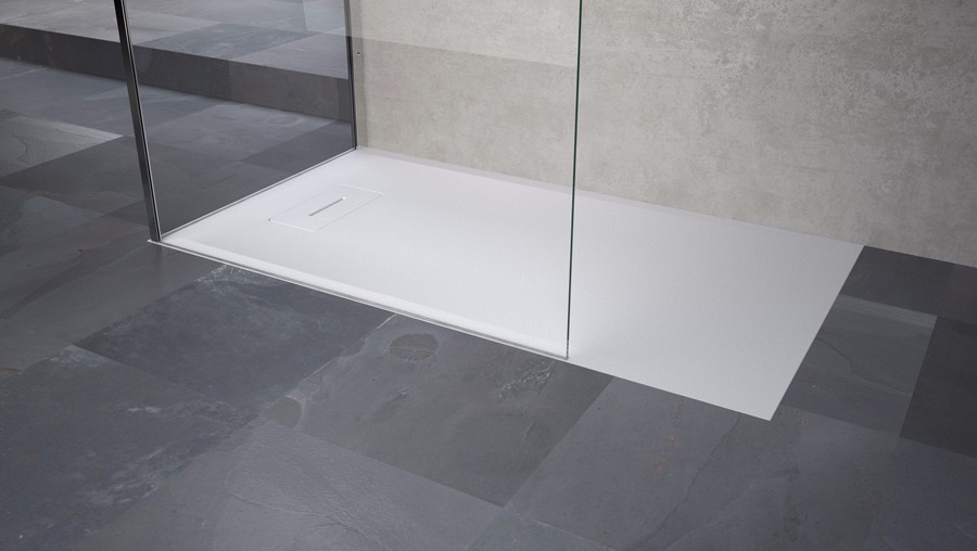 Pavimento Bianco Opaco : Arckstone piatto doccia ribassato resina filo pavimento casa