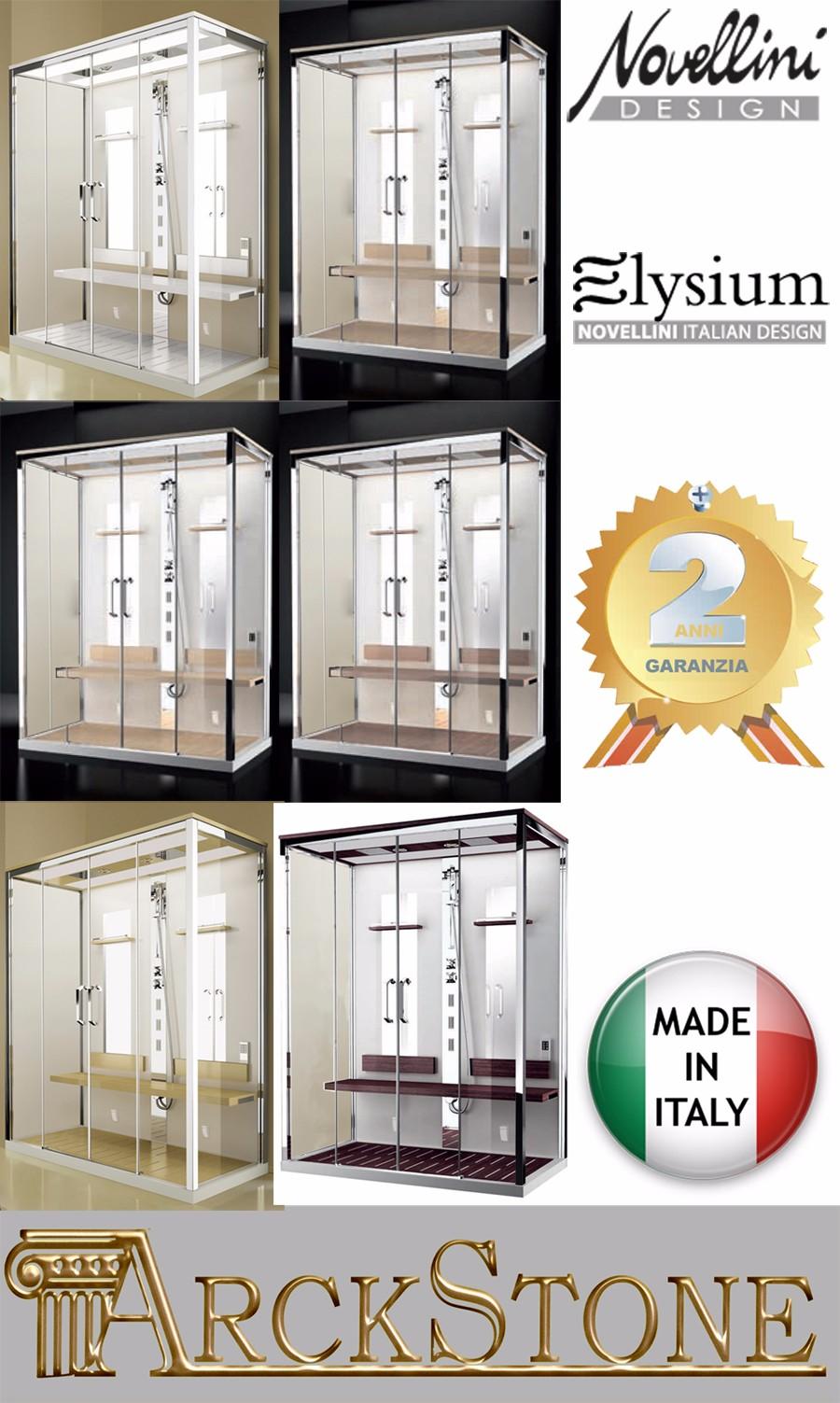 arckstone cabine hydro sauna chromothérapie novellini elysium nexis