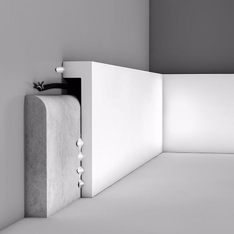 Arckstone copri battiscopa parete arredo bianco orac decor for Battiscopa ikea