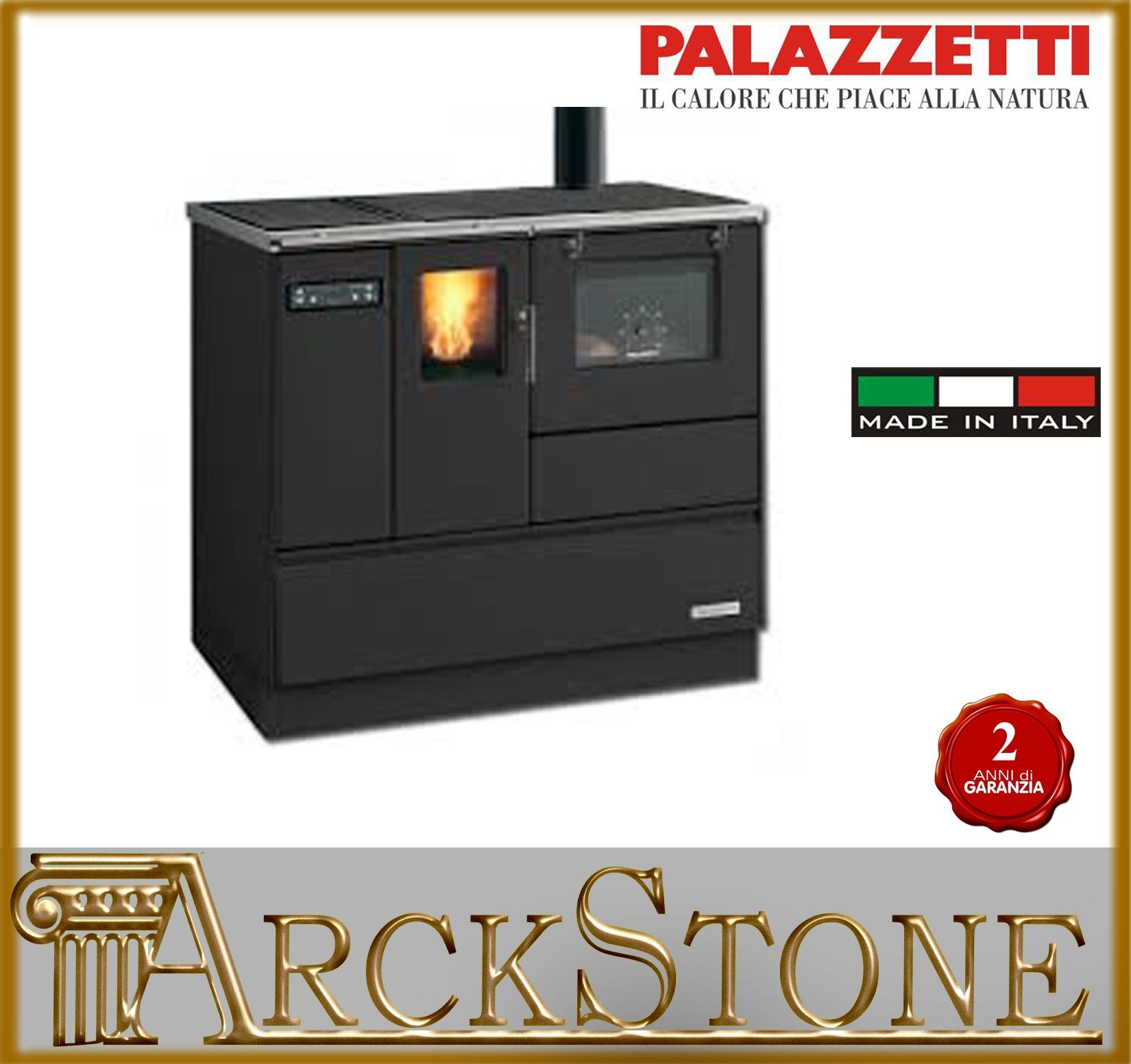 Arckstone stufa cucin pellet ecofire palazzetti ornella avorio canna fucil 8 2kw ebay - Cucine a legna palazzetti ...