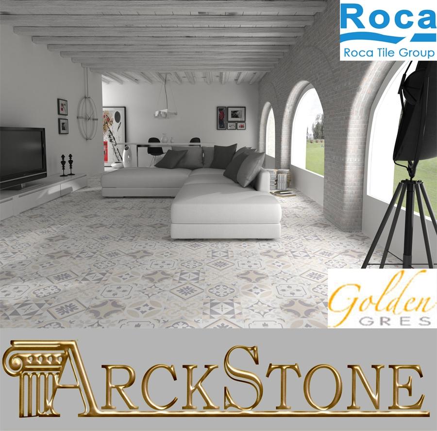 Arckstone pavimento piastrella gres porcellanato roca tiles gracia blanco bianco ebay - Roca piastrelle bagno ...