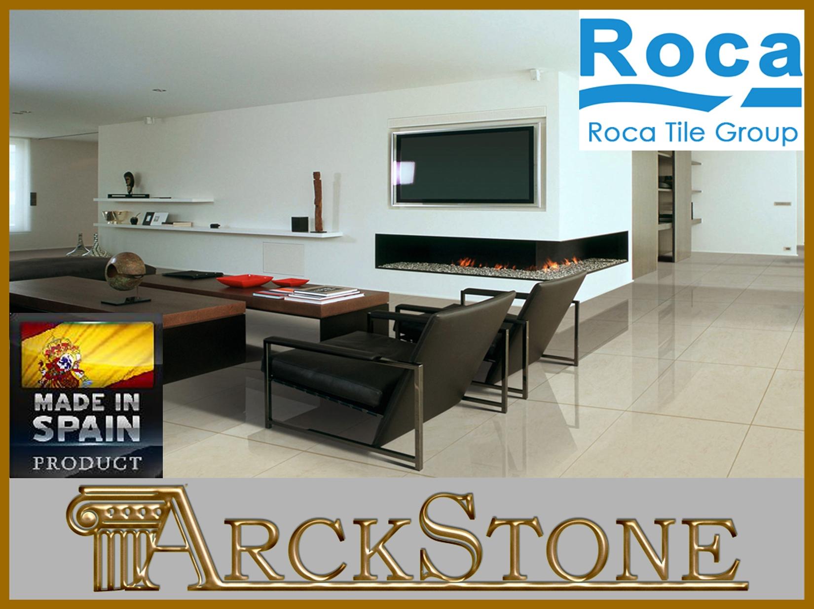 Arckstone pavimento piastrella cucina bagno gres lucido casa roca stratos beige ebay - Roca piastrelle bagno ...