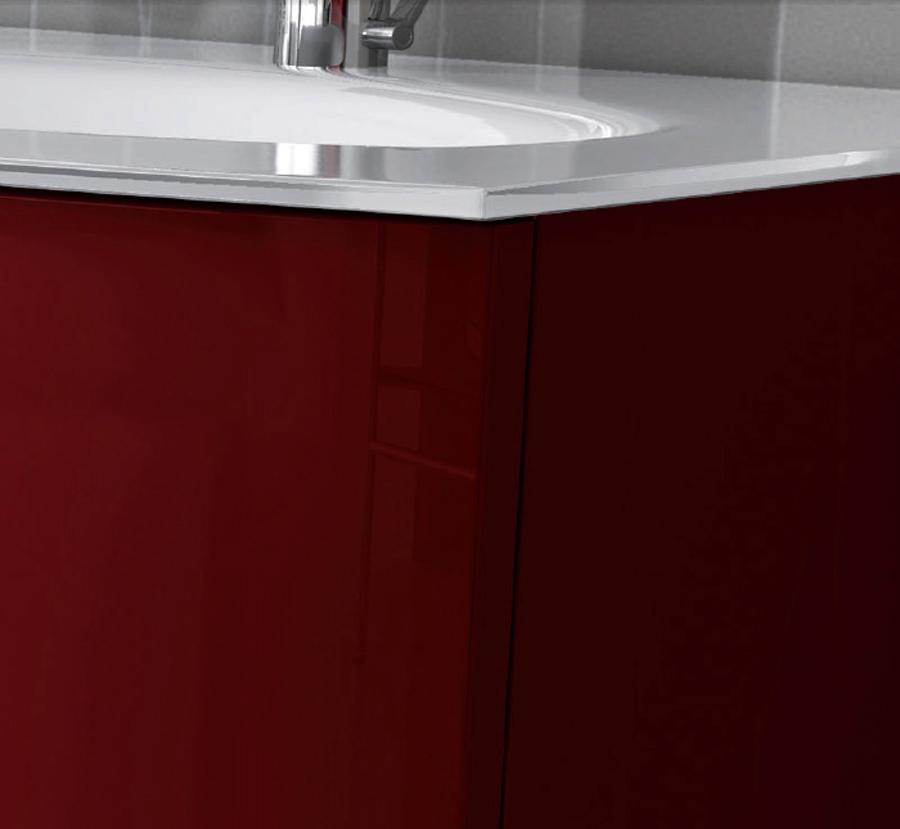 Badezimmerschrank Rot: ARCKSTONE Badezimmerschrank Modern Glas Hängendes Runder