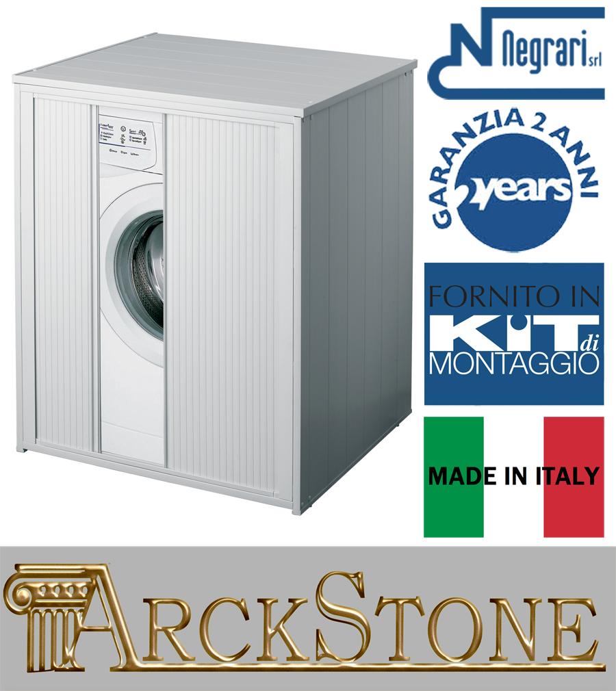 Mobile Proteggi Lavatrice Da Esterno dettagli su copri lavatrice asciugatrice grande casa negrari silvestro ante  serranda esterno