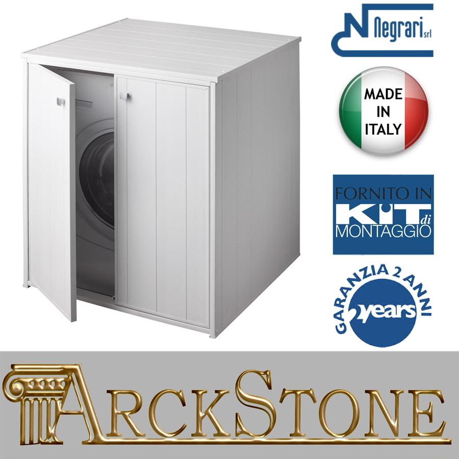 Mobile Colonna Lavatrice Asciugatrice dettagli su armadio mobile copri lavatrice asciugatrice grande negrari xxl  esterno battenti